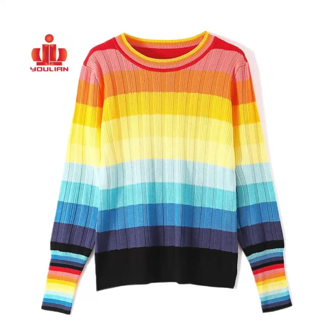 Dongguan knitting ladies crop oversize custom winter pullover jumpers knitted women sweater