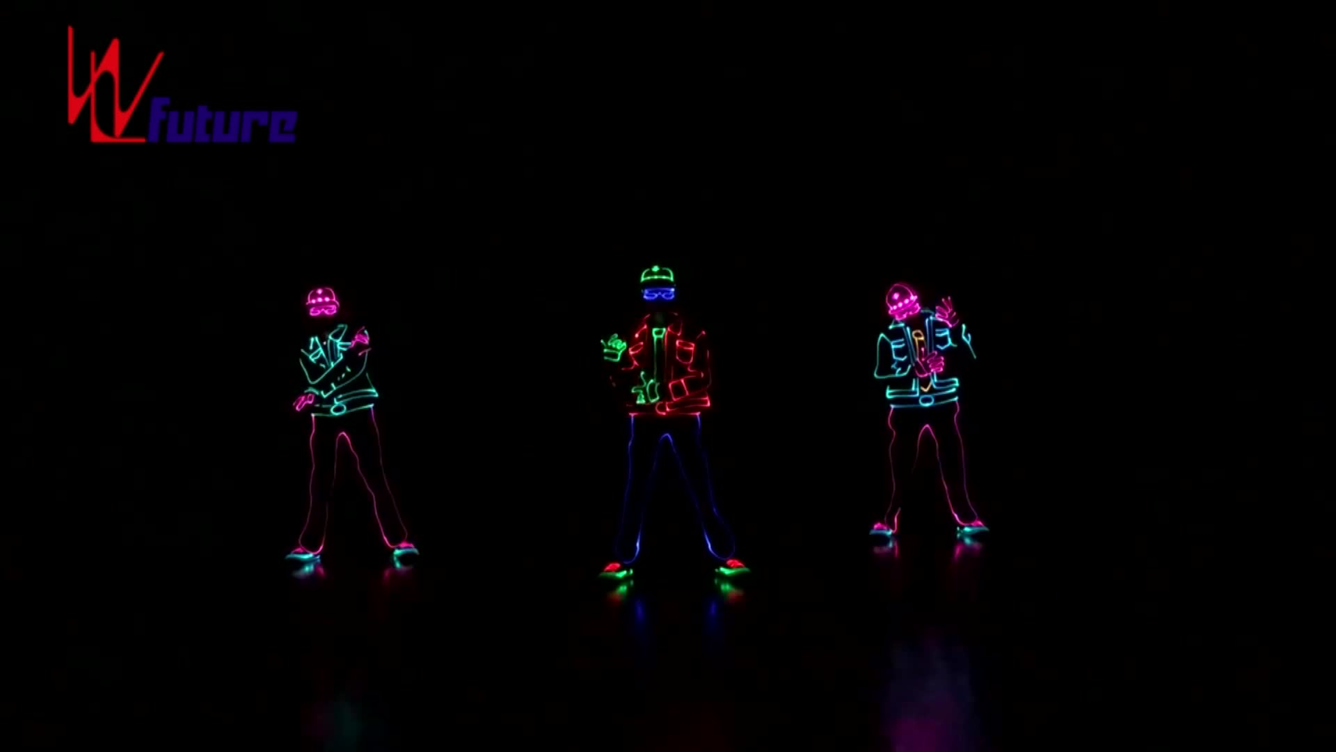 Hot sale hip hop LED tron costumes for team dance,tron dance clothing for men,led for clothes
