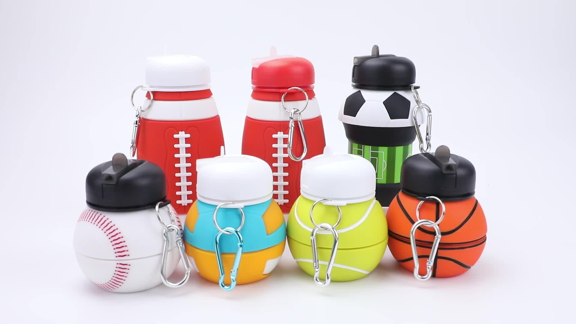 Eco Friendly Portable Collapsible Silicone Water Bottle For Outdoor