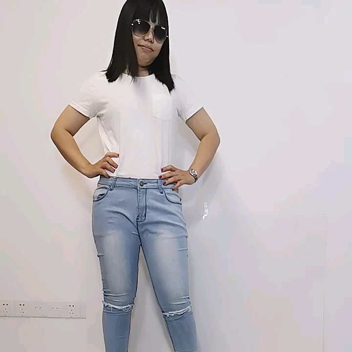 Wholesale New Fashion Original Women stretchy Jeans Distressed Slim Fit Ripped Pants Skinny Jeans