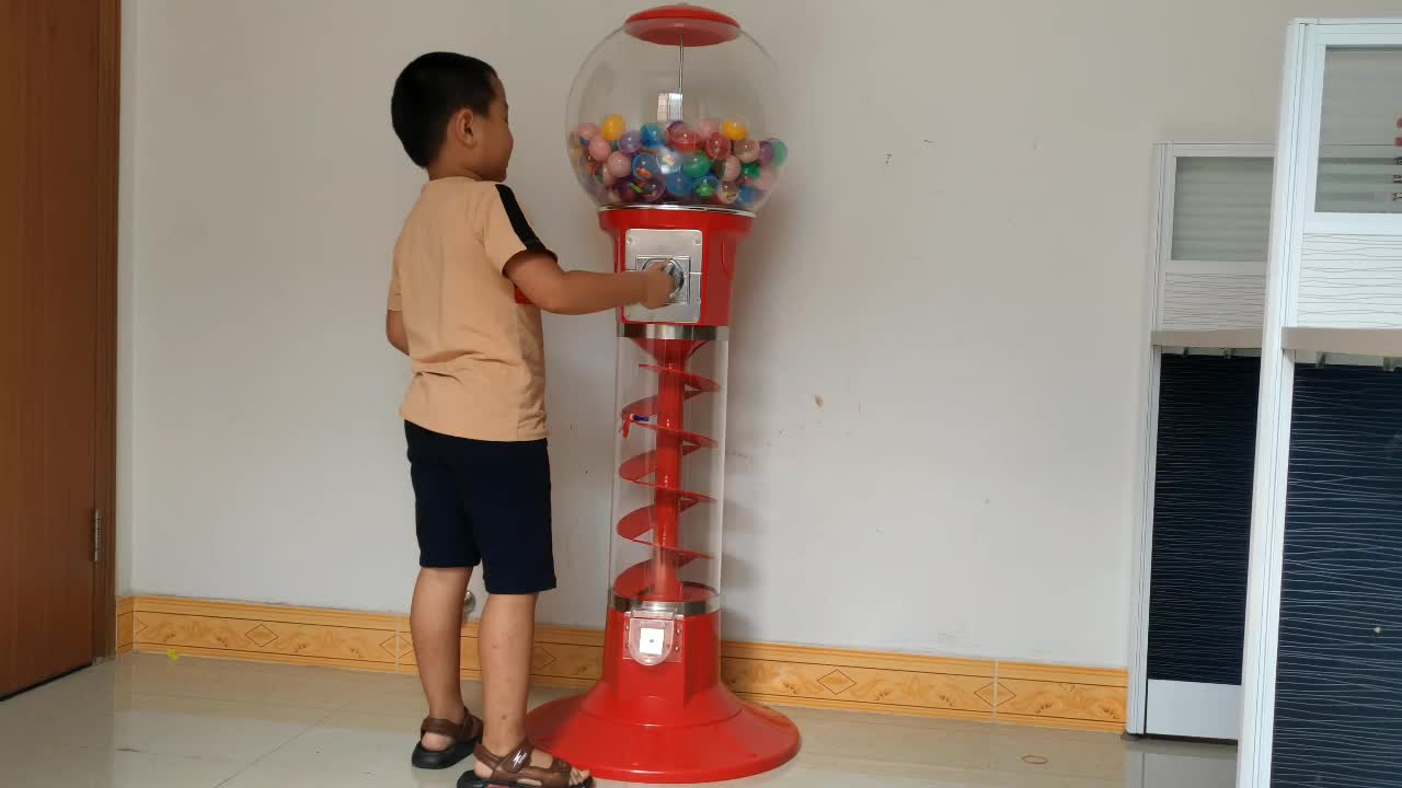 Wholesale Gym Chewing Gum Can Coin Vending Machine In Philippines, Table Top Gashapon Egg Ball Spiral Vending Machine Euro