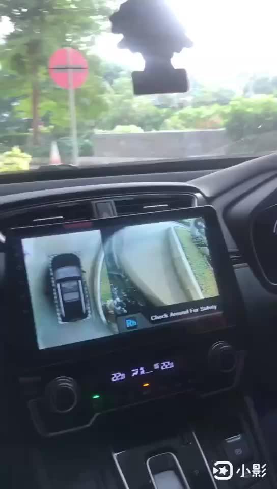 OEM 3D 360 Derece Çevreleyen Kuş Görünümü Güvenlik Sistemi Arabalar Için Destek 4 Yönlü Kamera Kayıt için Park Sürüş Kör spot