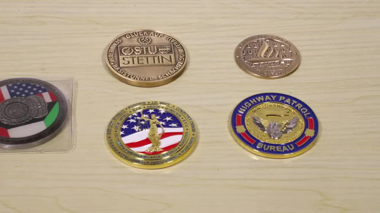 Wholesale hot selling custom cheap single antique silver metal coins