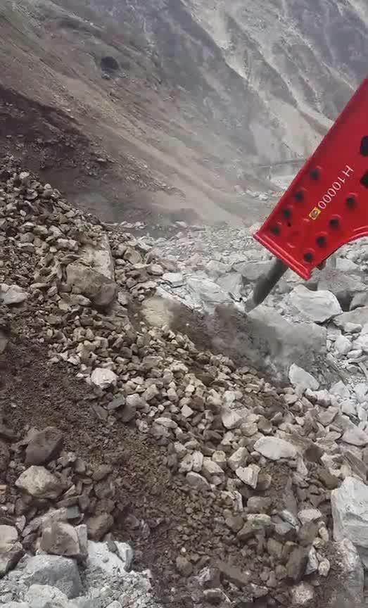 Martillo hidráulico de cincel diámetro 100mm para excavadora archivo adjunto a un precio razonable
