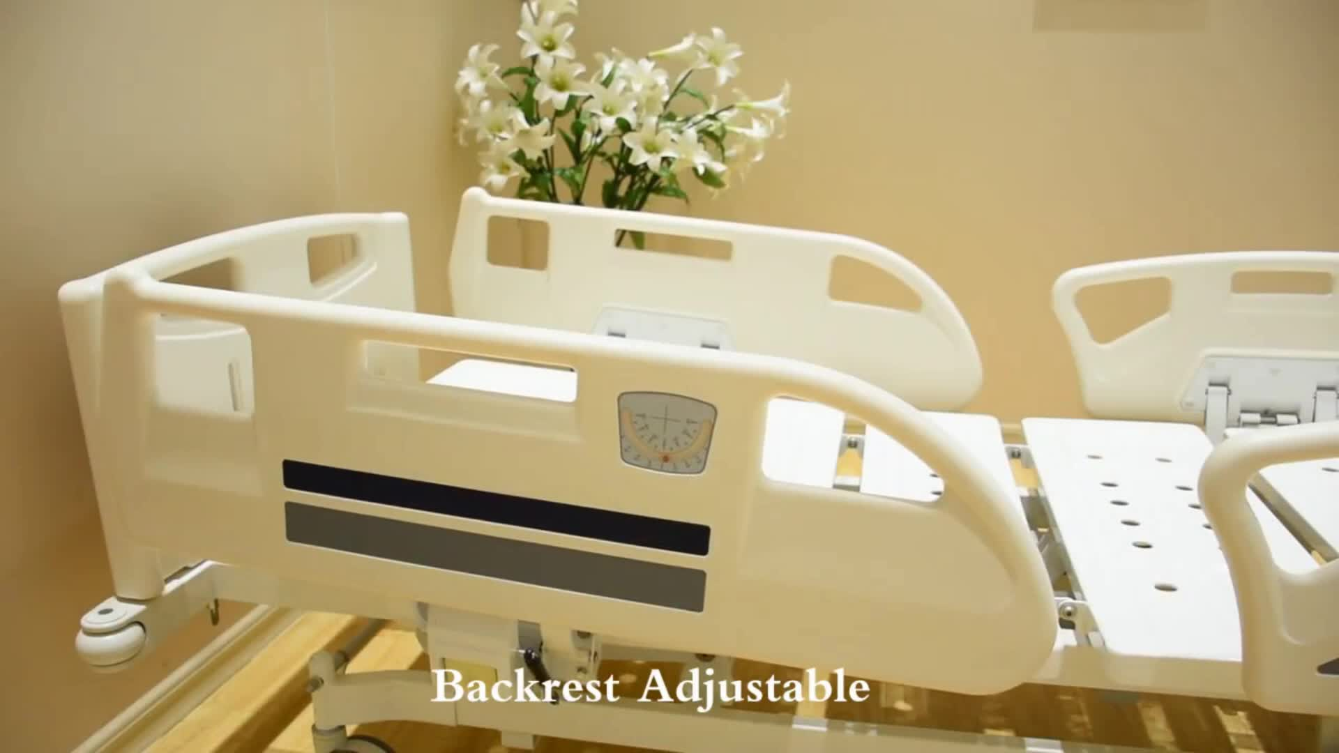 Cheap abs plastic side rail Icu Clinic Multi-function Hospital equipment Medical Electric Bed prices