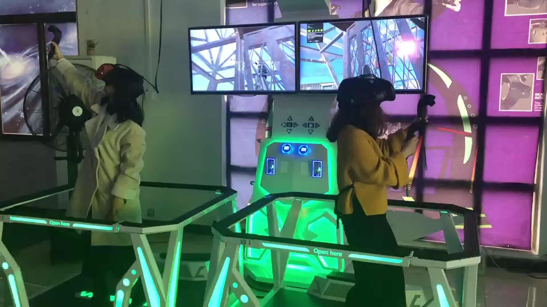 Simulasi Virtual Reality Kualitas Tinggi 9D Double Shooting Game 9D Berjalan dan Menembak