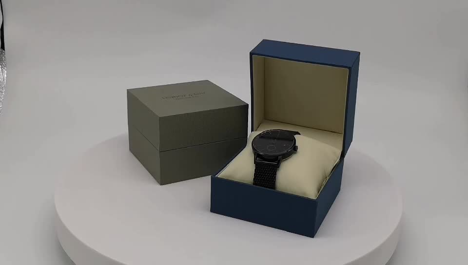 New Design Watch Packaging Gift Box With Fraux Leather Pillow