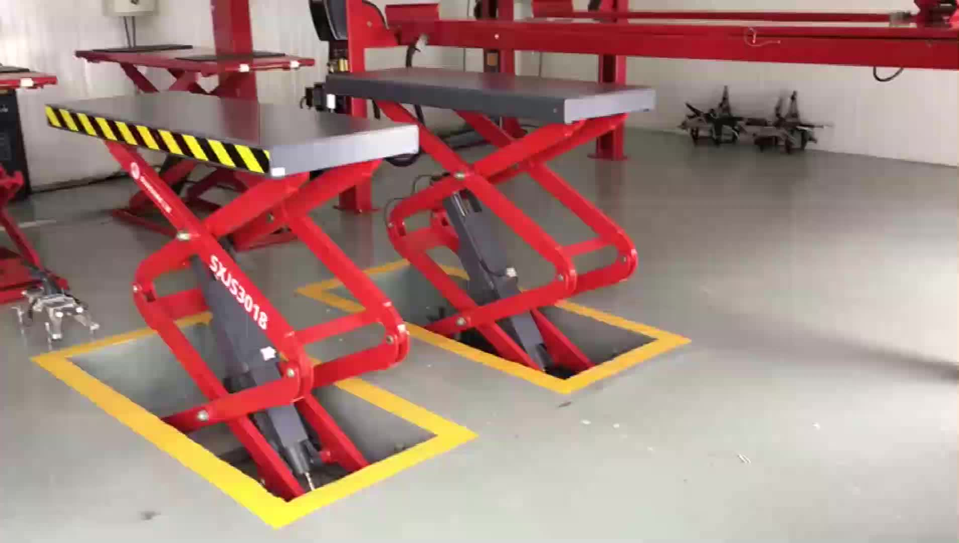 CE approved Durable Auto lift hydraulic fixed car scissor lift with good price