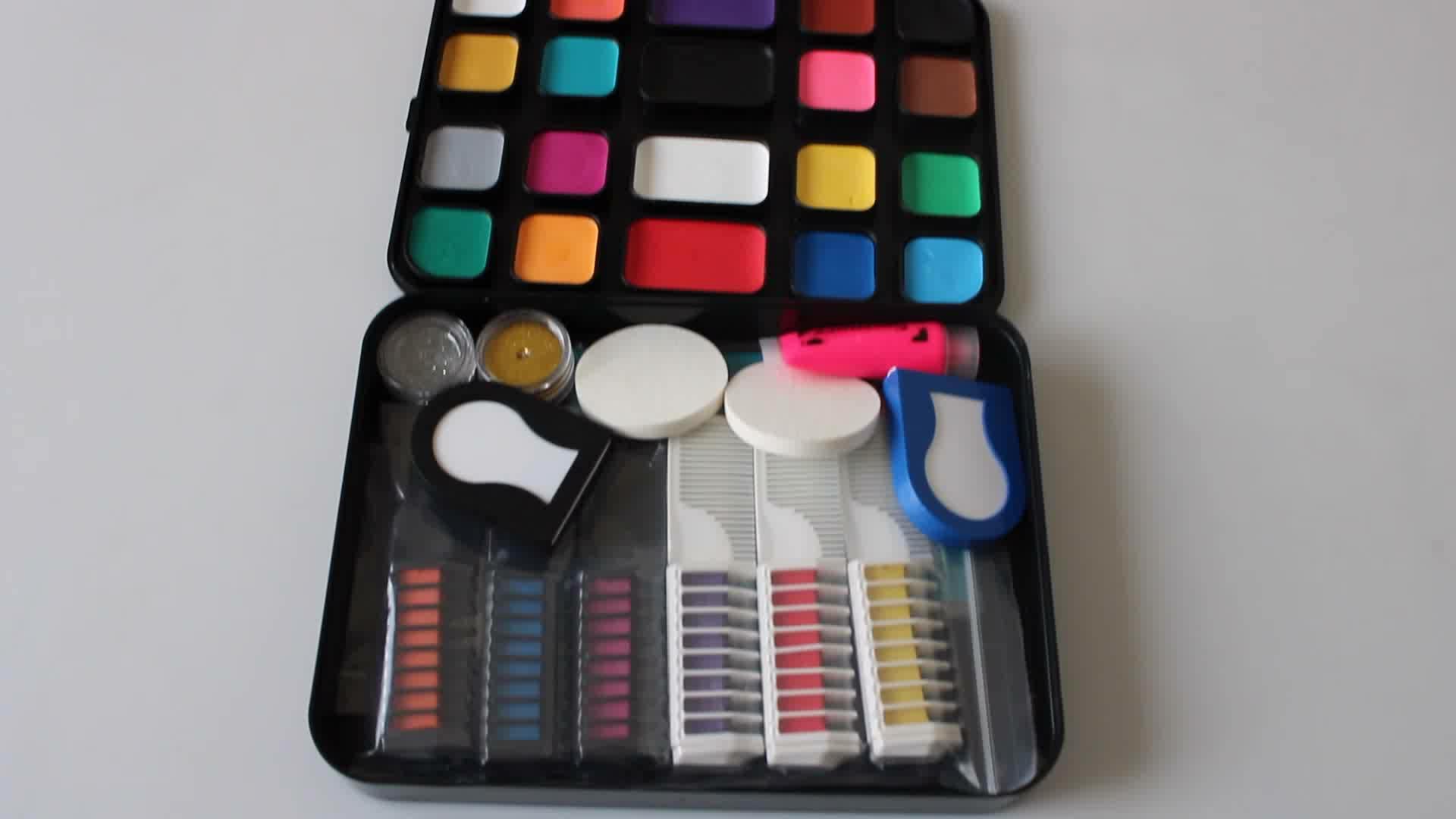Großhandel preis halloween 16 farben gesicht malen wasser basierend körper malen für kinder gesicht malen kit