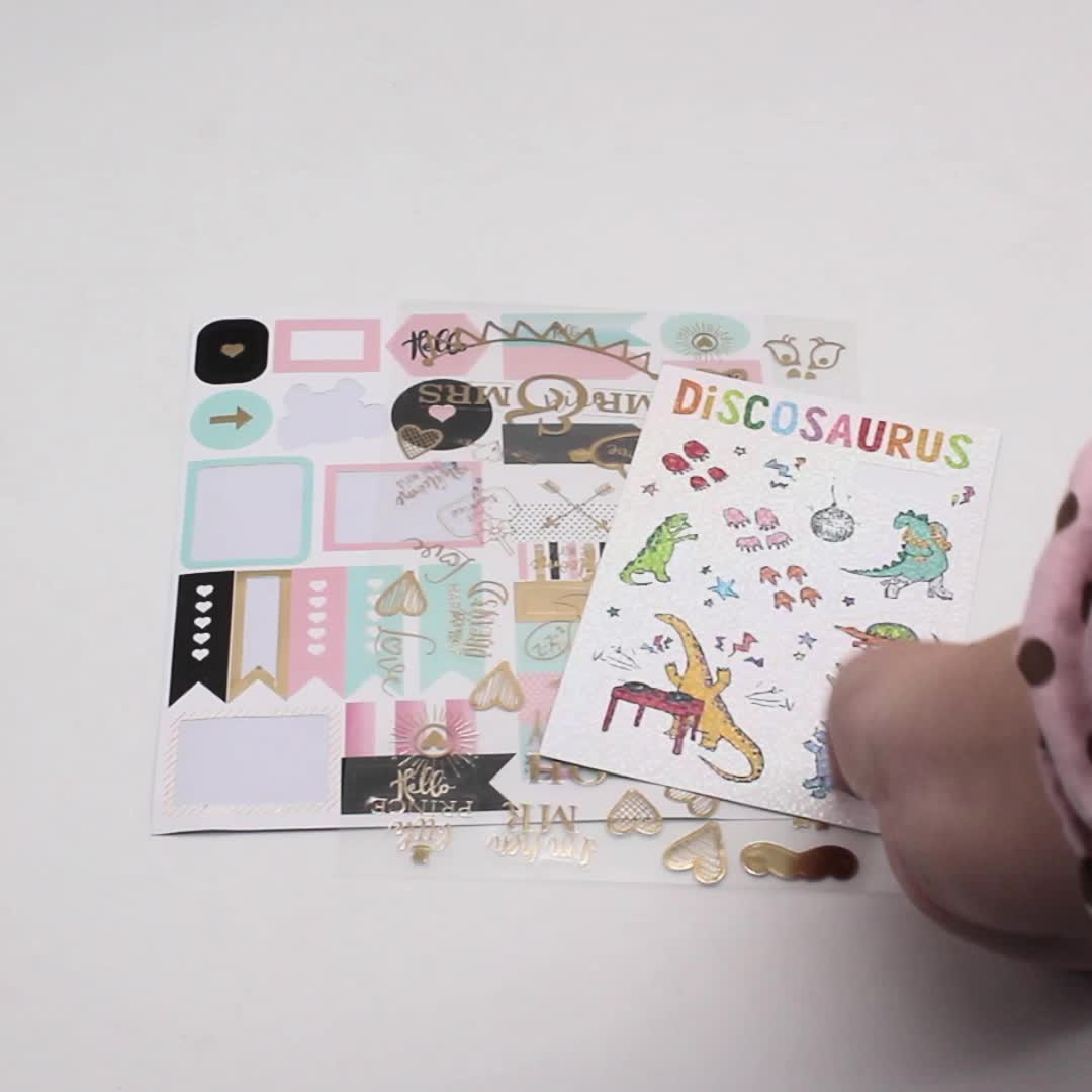 wholesale custom logo sticker printing