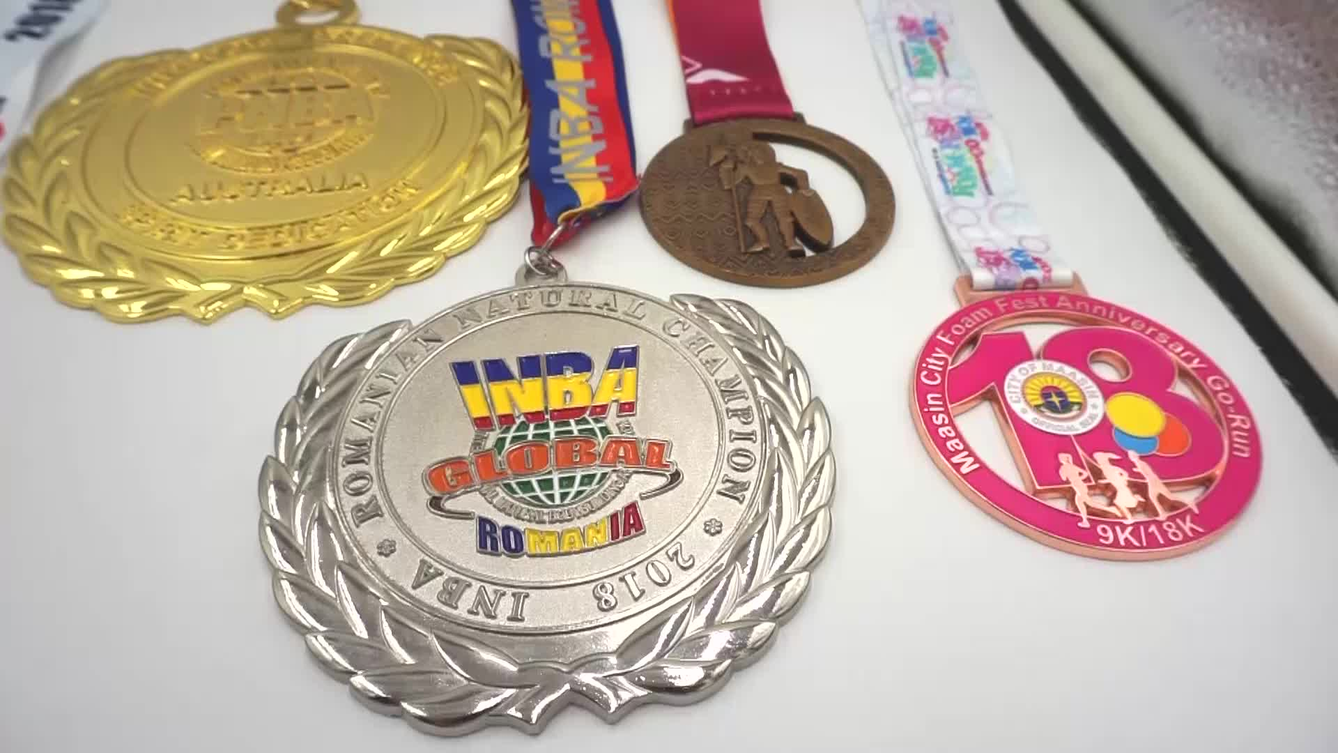 Custom Cheap Metal Zinc Alloy Die Casting Sports Award Medals And Trophies