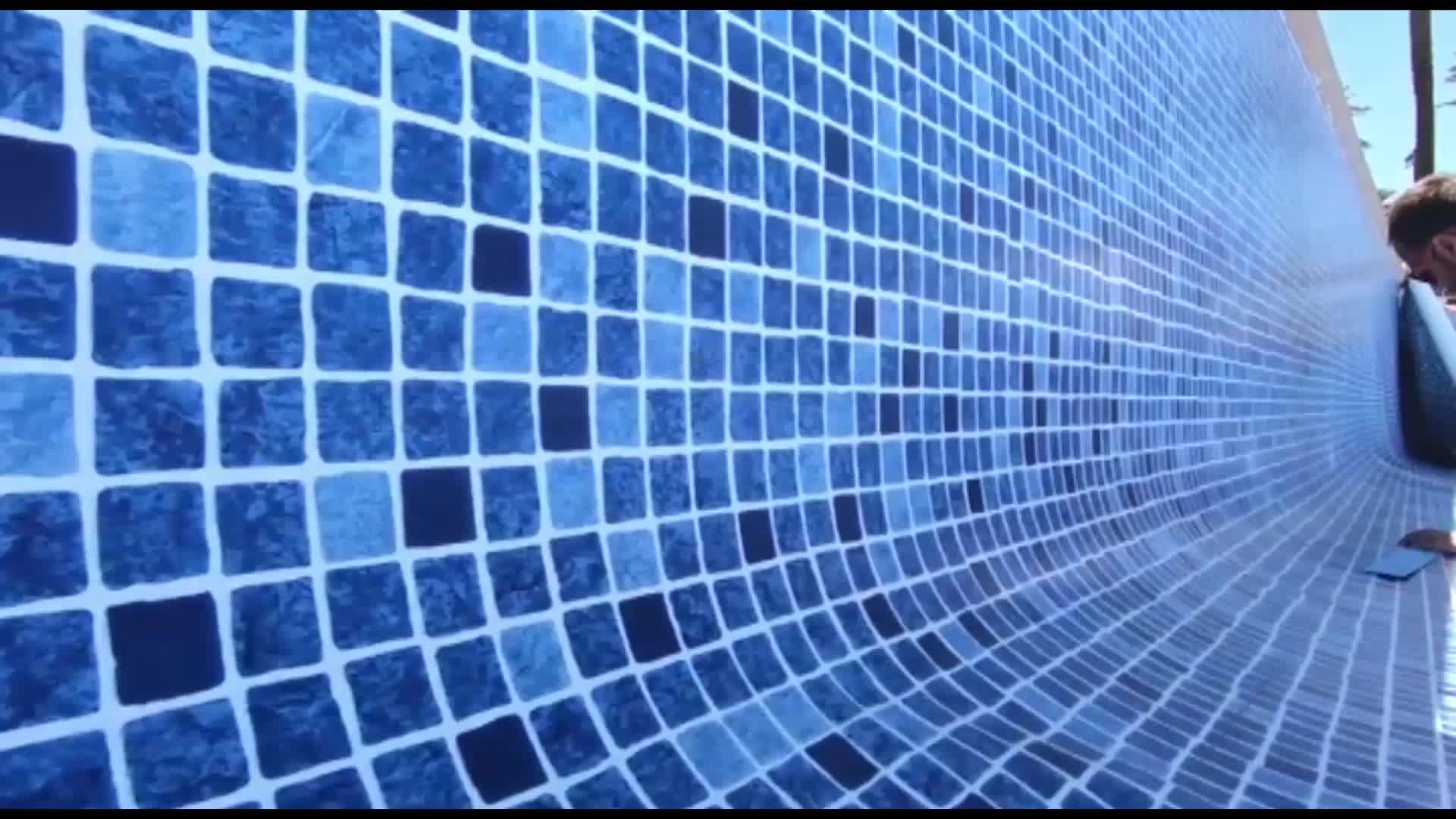 Pvc levha vinil yüzme havuzu kaplaması malzeme para piscinas 0.4mm 0.5mm 1.5mm/vinil astarlar havuzlar için 60 mil çin fabrika