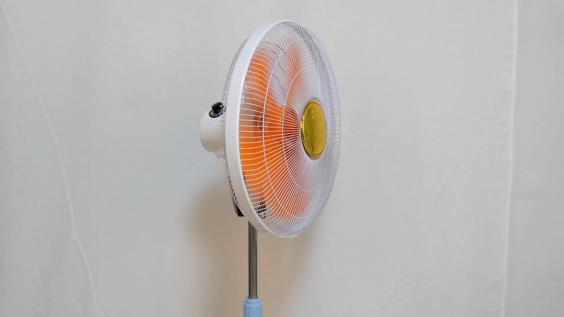 ソーラー充電プラスチック空気循環台座 12v 直流電動ファン