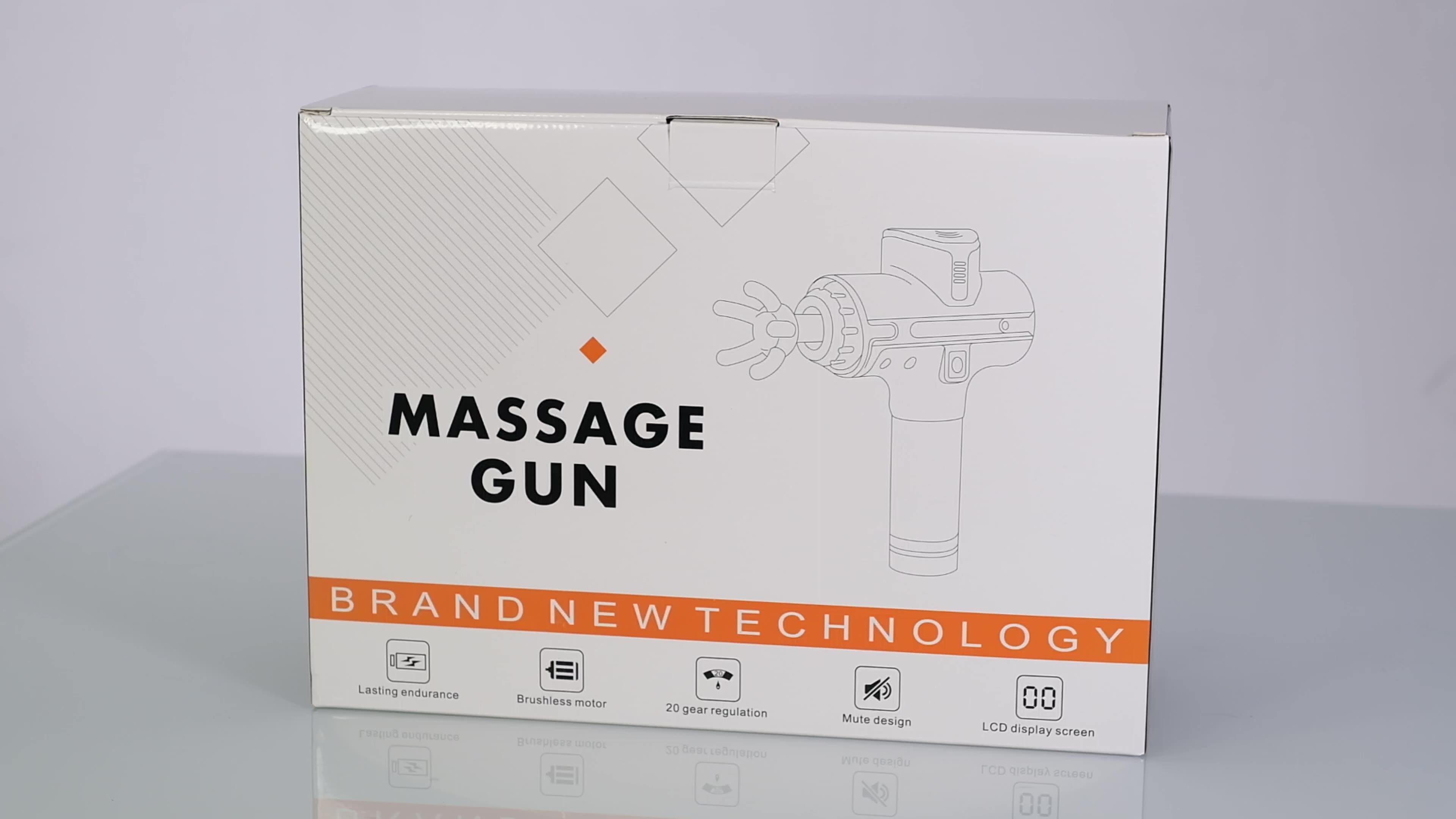2020 New Arrivals Xu Hướng Sản Phẩm 5200 MAh 24V Chuyên Nghiệp Trên Khuôn Mặt Massage Gun, cơ Thể Cá Nhân Điều Trị Massager Với 8 Đầu