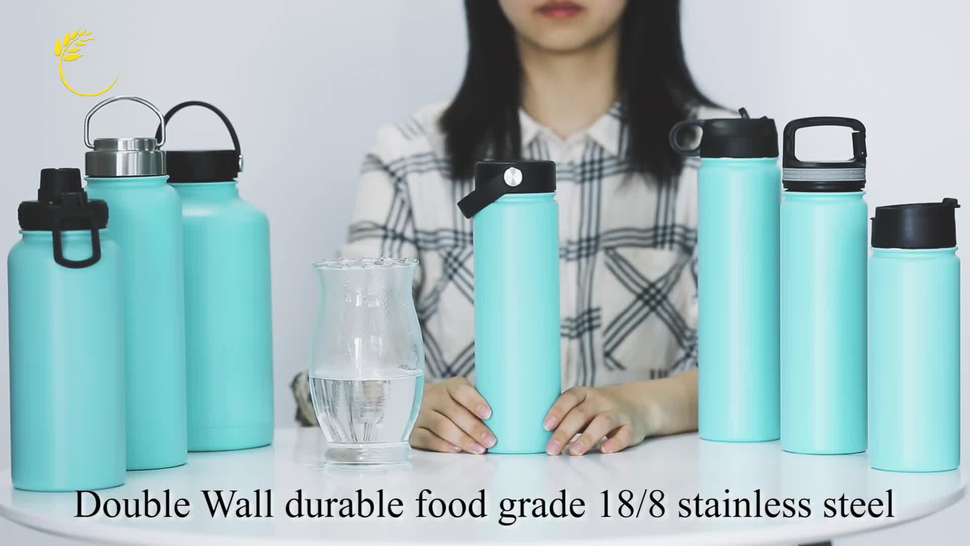 Nuovo disegno 3D stampa boccetta di vuoto doppio isolamento bottiglia di acqua bottiglia termica in acciaio inox