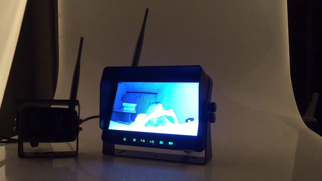 Draadloze Truck Camera Systeem 7 LCD Monitor Waterdicht IP68 Camera Reverse