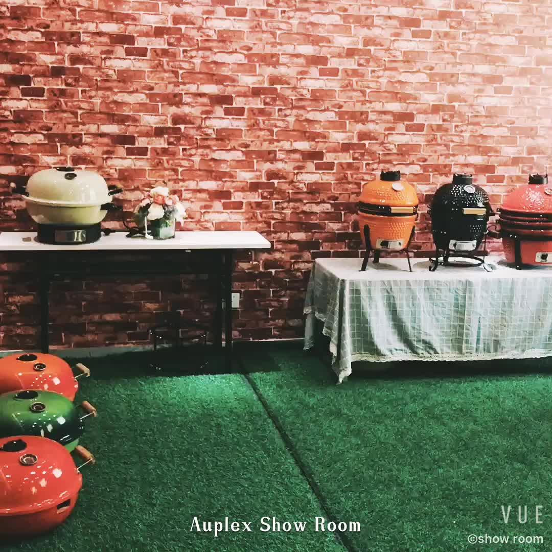 "Auplex 18 ""Classic grote groene eivorm keramische houtskool kamado turkse grill"