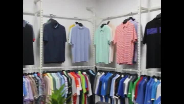 Top quality 100% polyester heather color 4-buttons women golf polo shirt