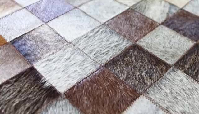 tapis peau de vache natural cowhide rug patchwork rugs for home