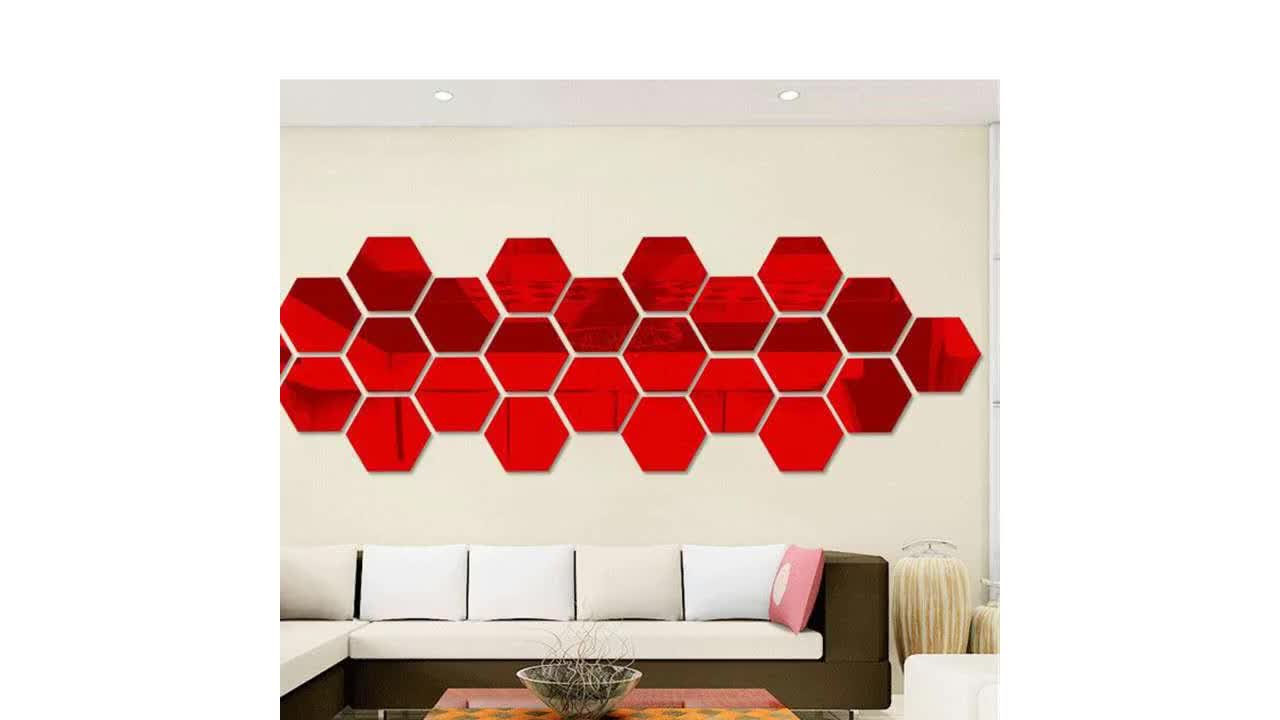 Butterfly Combination 3D Mirror Wall Stickers Home Decoration Wall Stickers Decals Living Room Stick