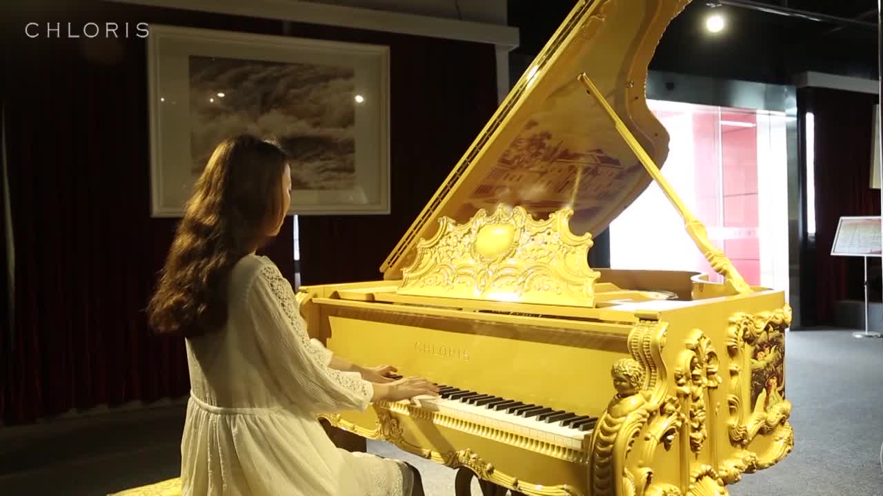 New!!! Luxury Gold piano and walnut Grand Piano GP-2 for sale, Luxurious furniture and for sale piano