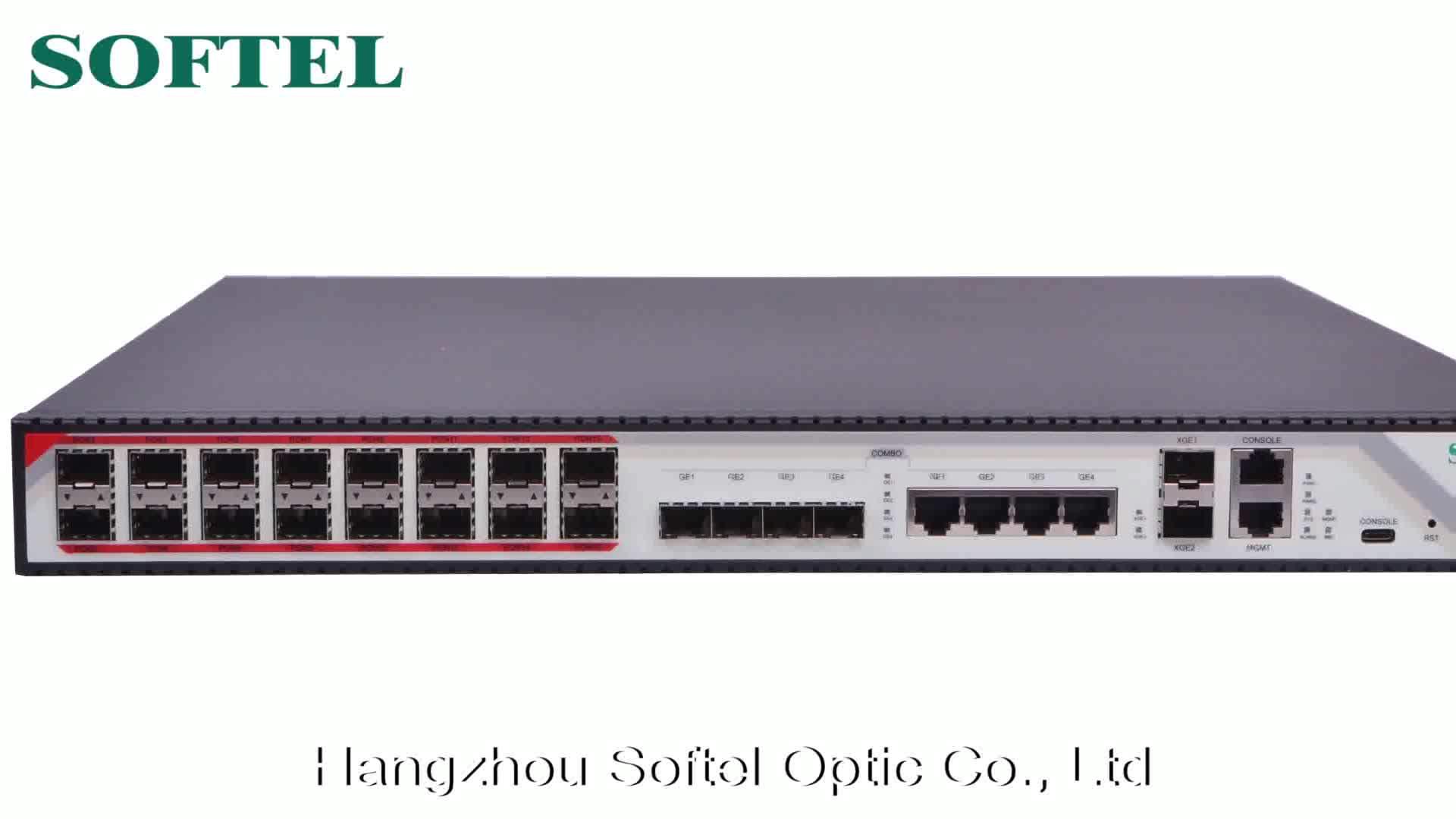 Fiber Optic 16 PON GPON OLT with 2.5G module for FTTx Solution