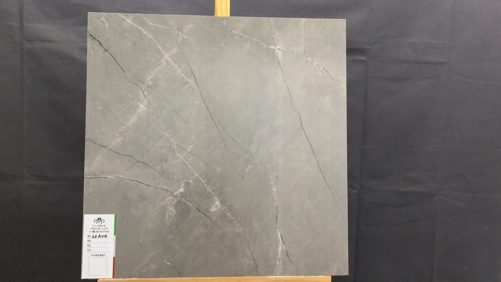 China nieuwe producten 600x600mm cement rustieke grijs floor donkergrijs keramische tegels