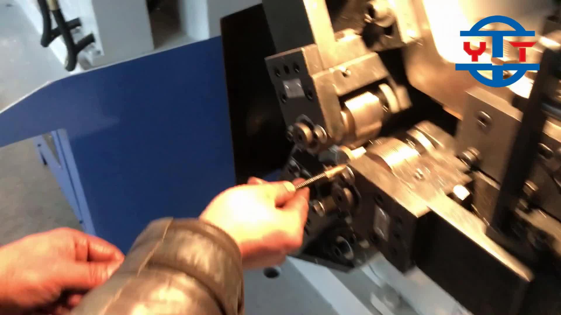Portatile tondo per cemento armato threading macchina, filo testa di laminazione rotolo threading macchina