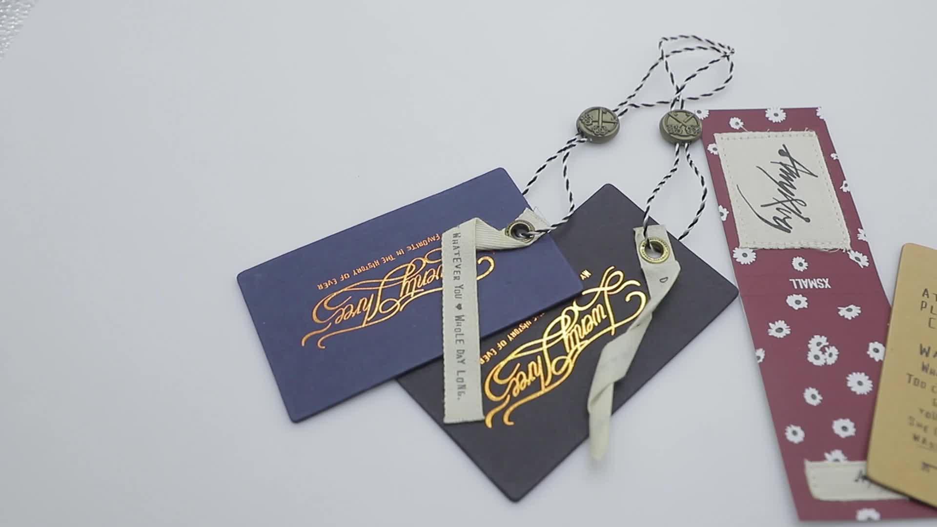 2018 Custom clothing tags / hang tag / garment hangtag