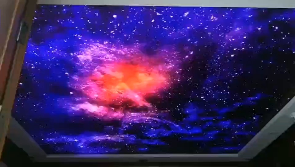 Bed room Ceiling decor night sky with star designs printed stretch ceilings film design
