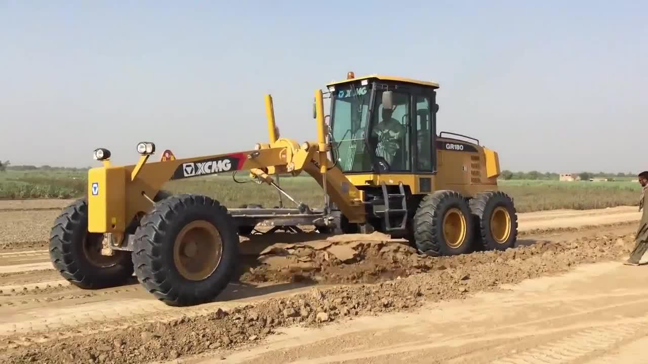 XCMG 160HP GR1653 motor grado china rc mini tractor de ruedas de carretera motor grader precio de venta