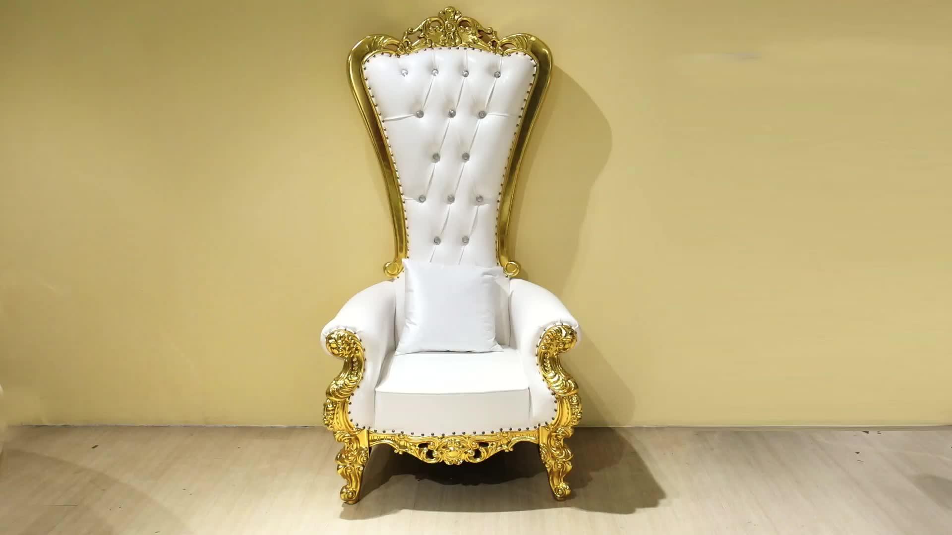 Estilo europeu Cadeira Do Trono de Branco Para O Casamento