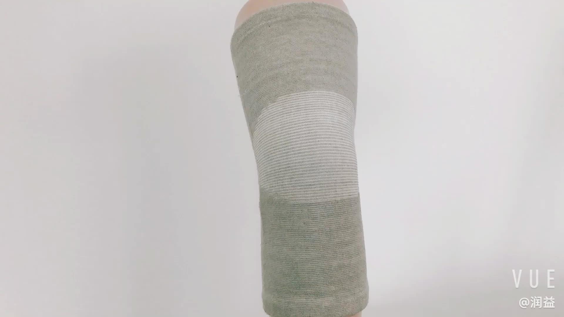 Toptan Nefes Elastik Bambu Kömür Pamuk Kneepad Diz Kol Desteği Spor Güvenliği için