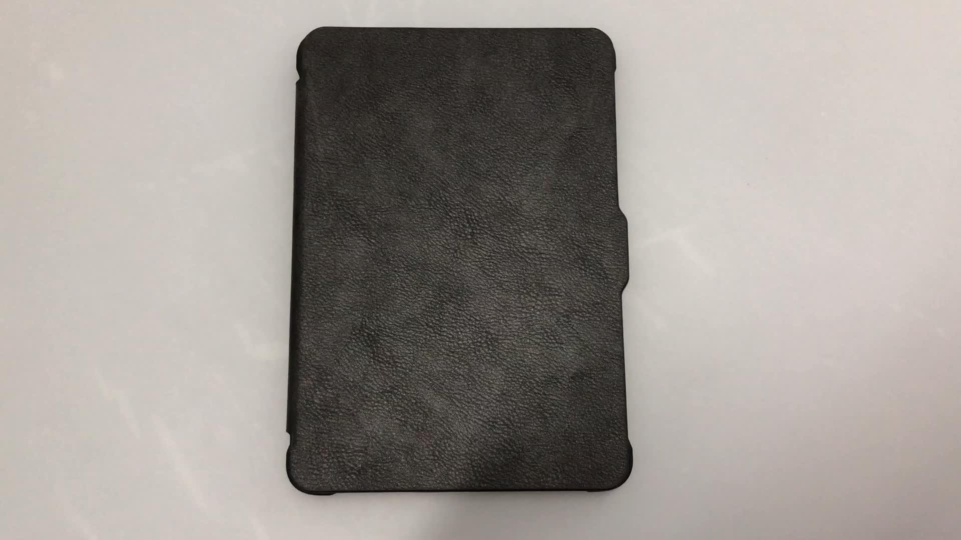 Universal-Smart-Hülle aus reinem und kontrastfarbenem PU-Leder für Kindle Paperwhite 1 2 3