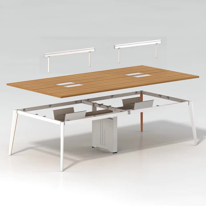 Simplicity Modern Meeting Furniture Office Conference Table Home Office Commercial Furniture Metal Frame General Office ISO9001
