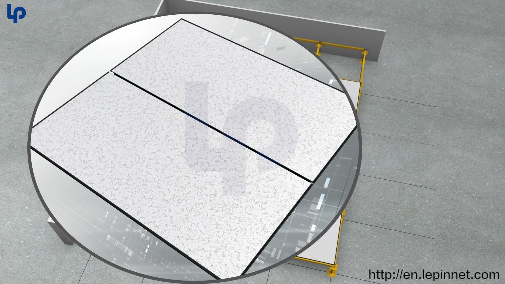 antistatic raised floor price  sulphate raised floor panel raised floor tiles grey