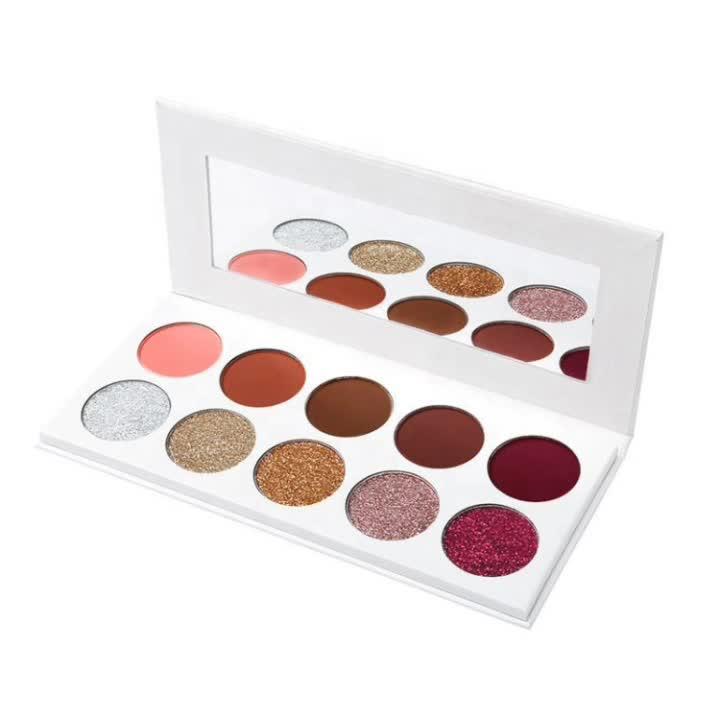 Hoge Kwaliteit Nieuwe Aangepaste Kleur Makeup Oogschaduw Palet OEM Palet Voor Private Label Make-Up Cosmetica Met Lage MOQ, lage Prijs