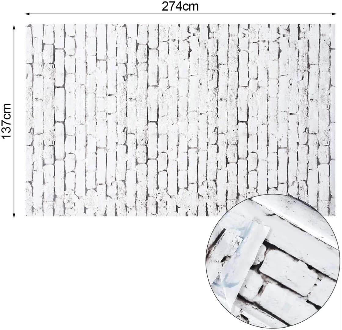 Rifornimenti del partito Della Decorazione Bianco Grigio Muro di Mattoni di Plastica Sfondo per Feste di Natale/Natale