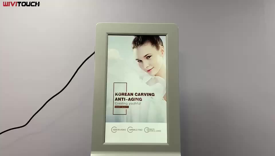 WiViTouch 21.5 inch android digital signage with auto hand sanitizers dispenser lcd advertising kiosk