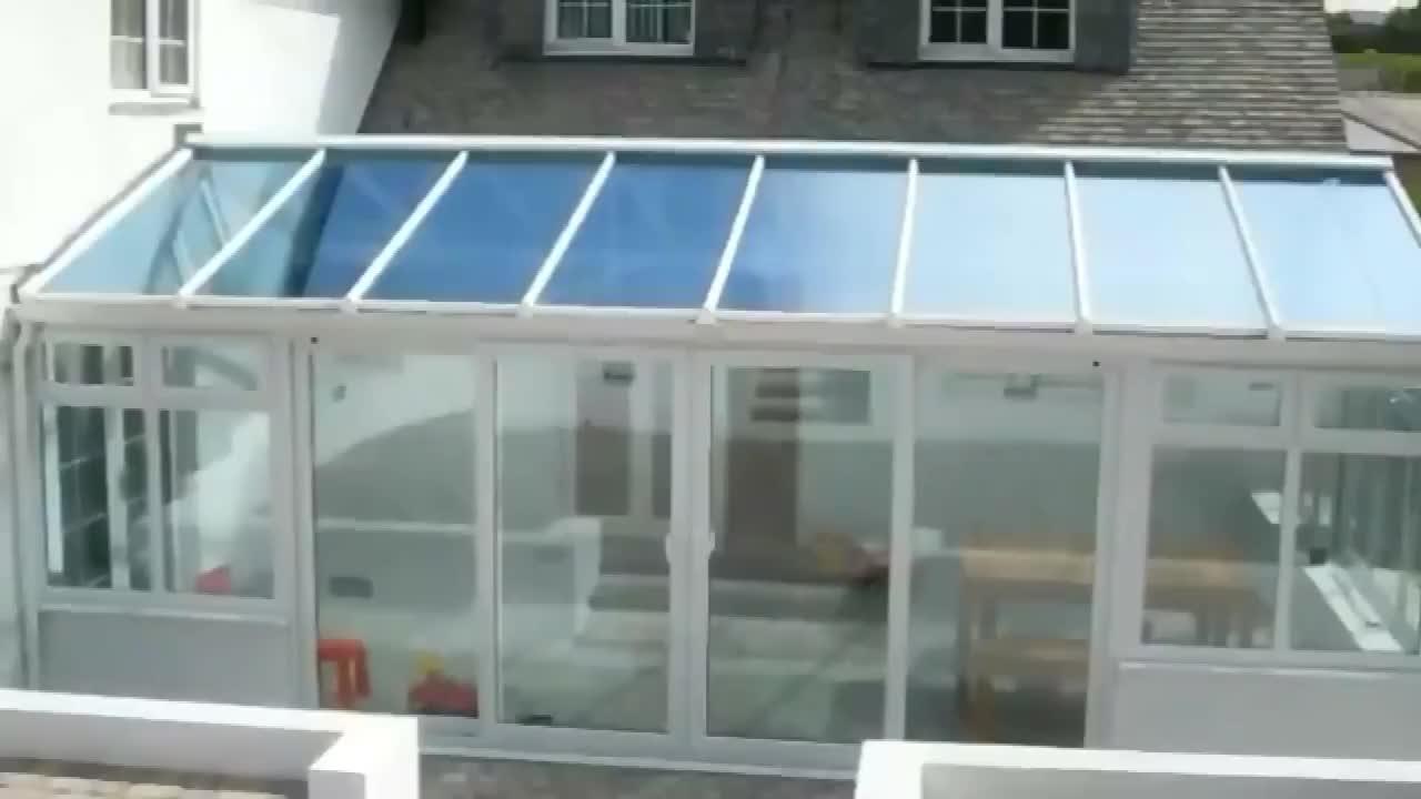 De Alta Calidad De Aluminio Terraza Triángulo De Techo De Aluminio Con Doble Acristalamiento Sunrooms Conservatorios Patio Habitaciones Libre Terraza