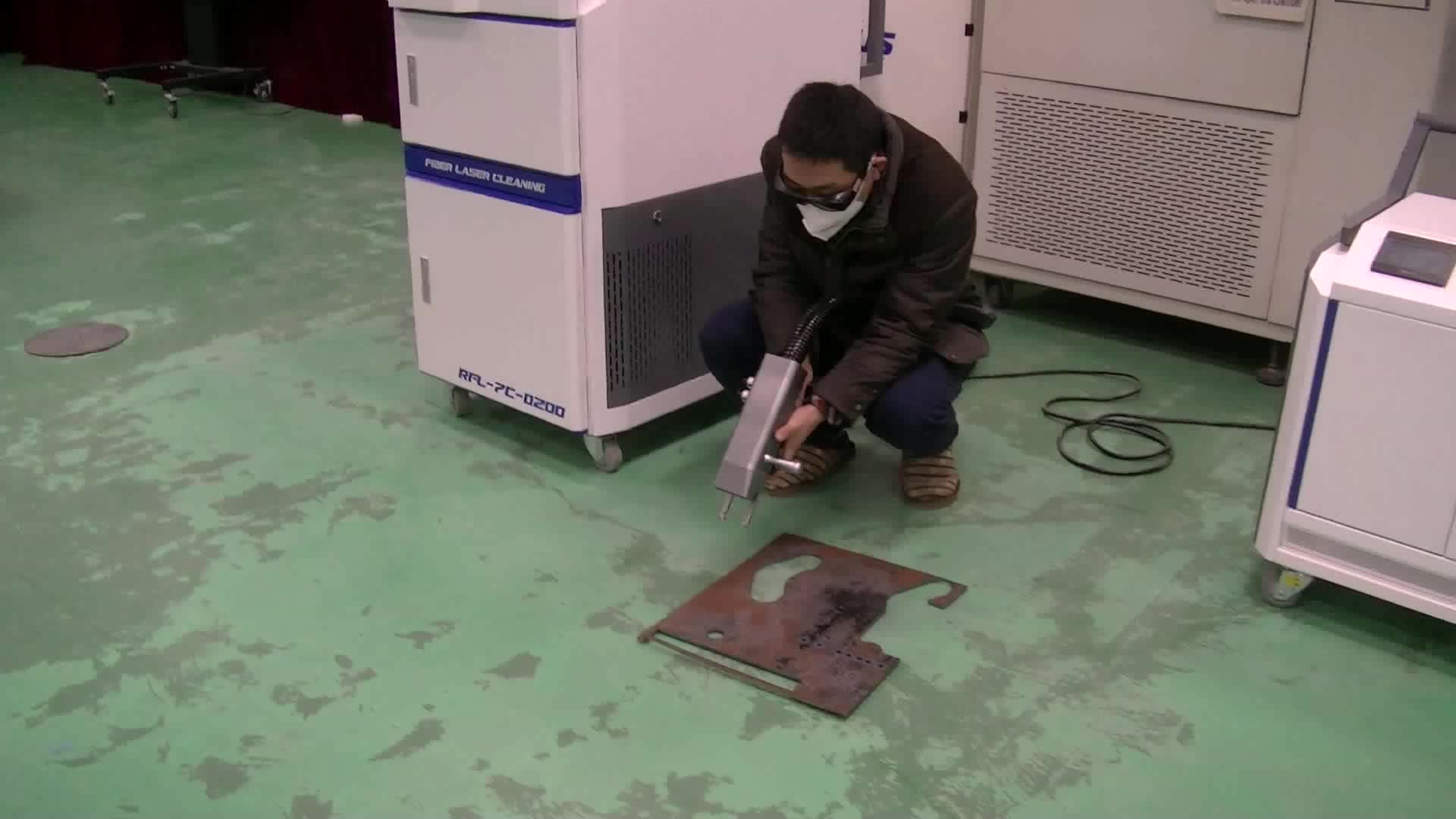 Metal yüzeyler için lazerli pas temizleme ekipmanı