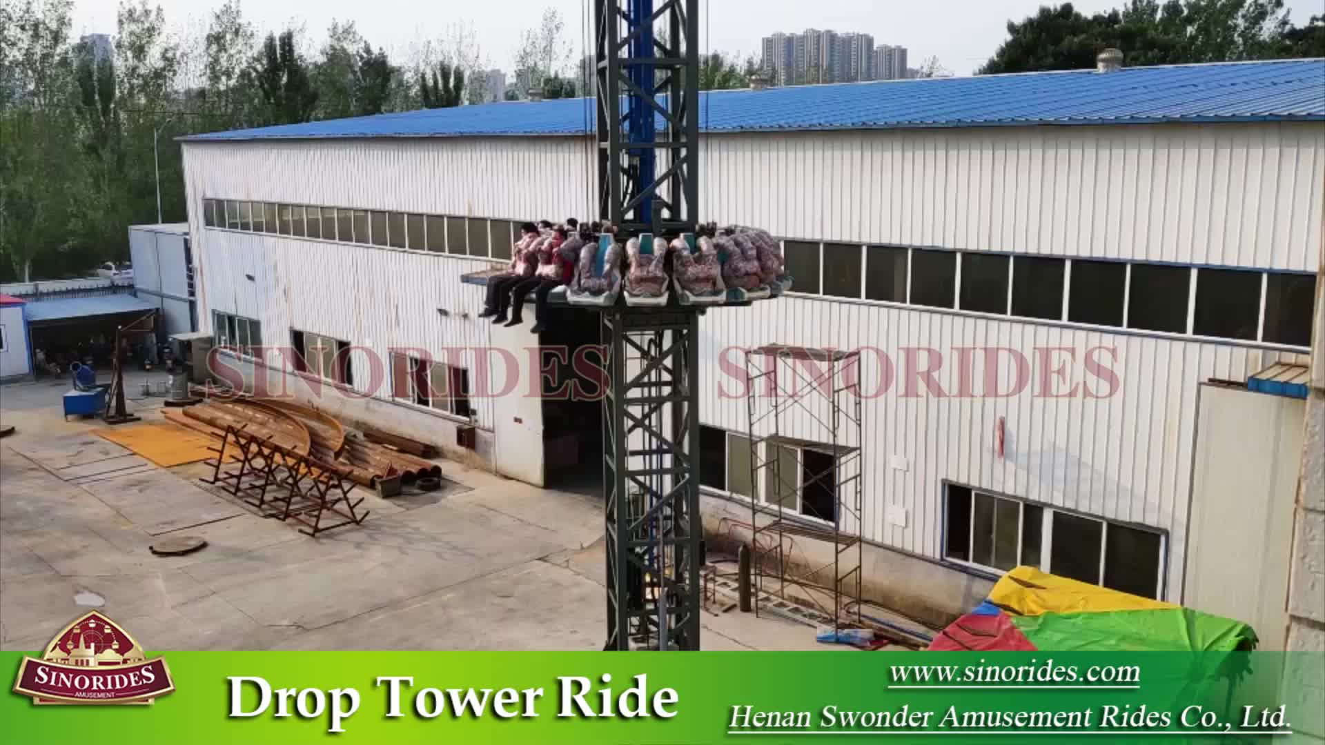 amusement rides free fall tower spin ride for sale