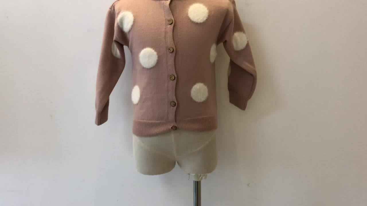 Long Sleeve Girls Sweaters 2019 Spring and Autumn Baby girl Sweater Children Bow Cardigan Sweaters