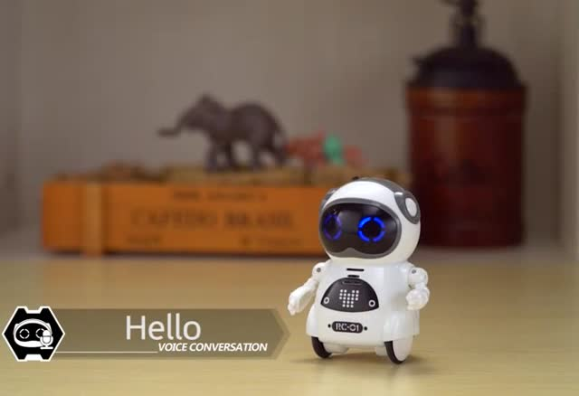 Educational pocket electric functional mini robot toy