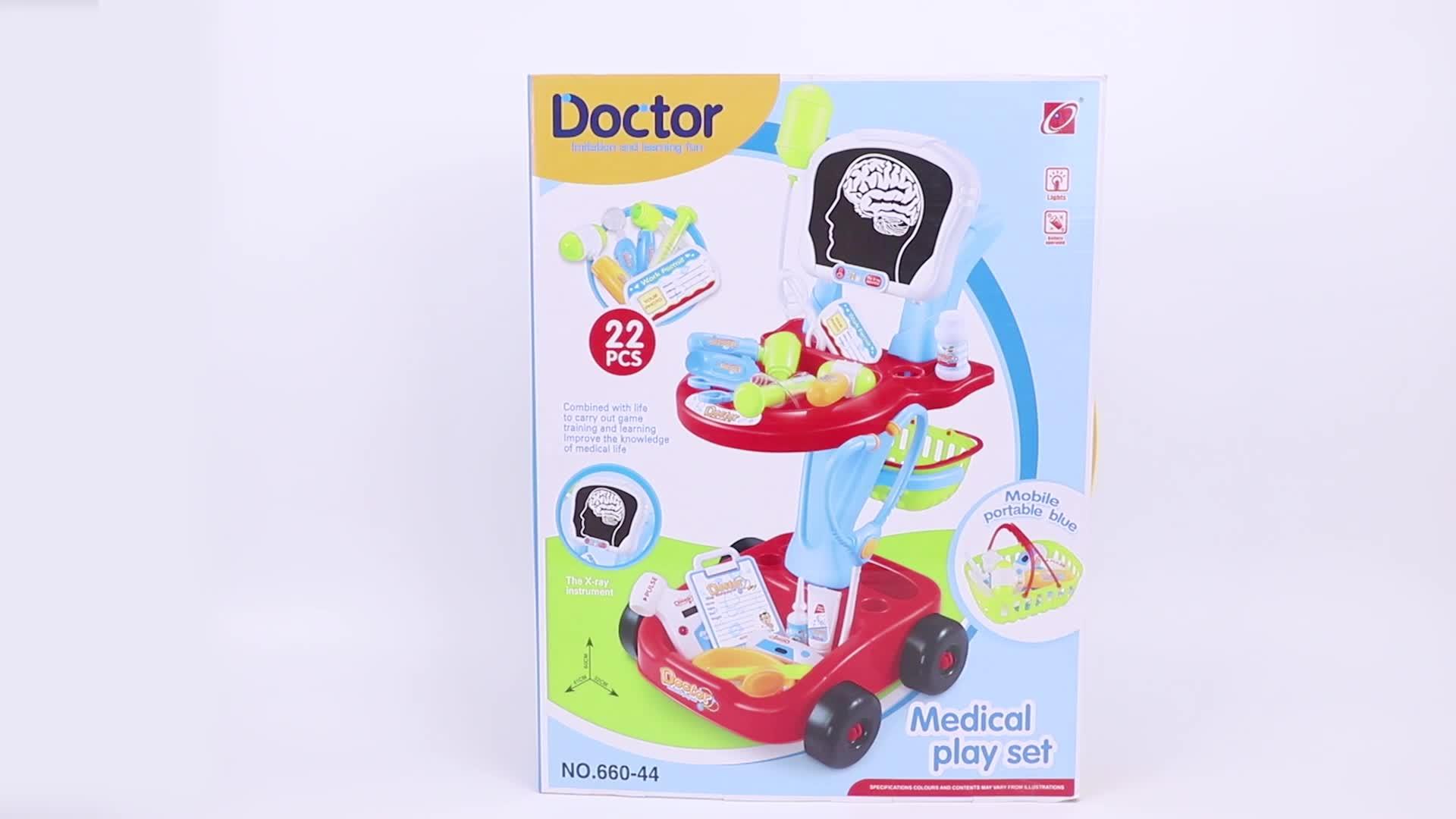 Hospital docente equipo juguete para bebé juego de rol médico Carro de juguete Kit médico estetoscopio Juguetes