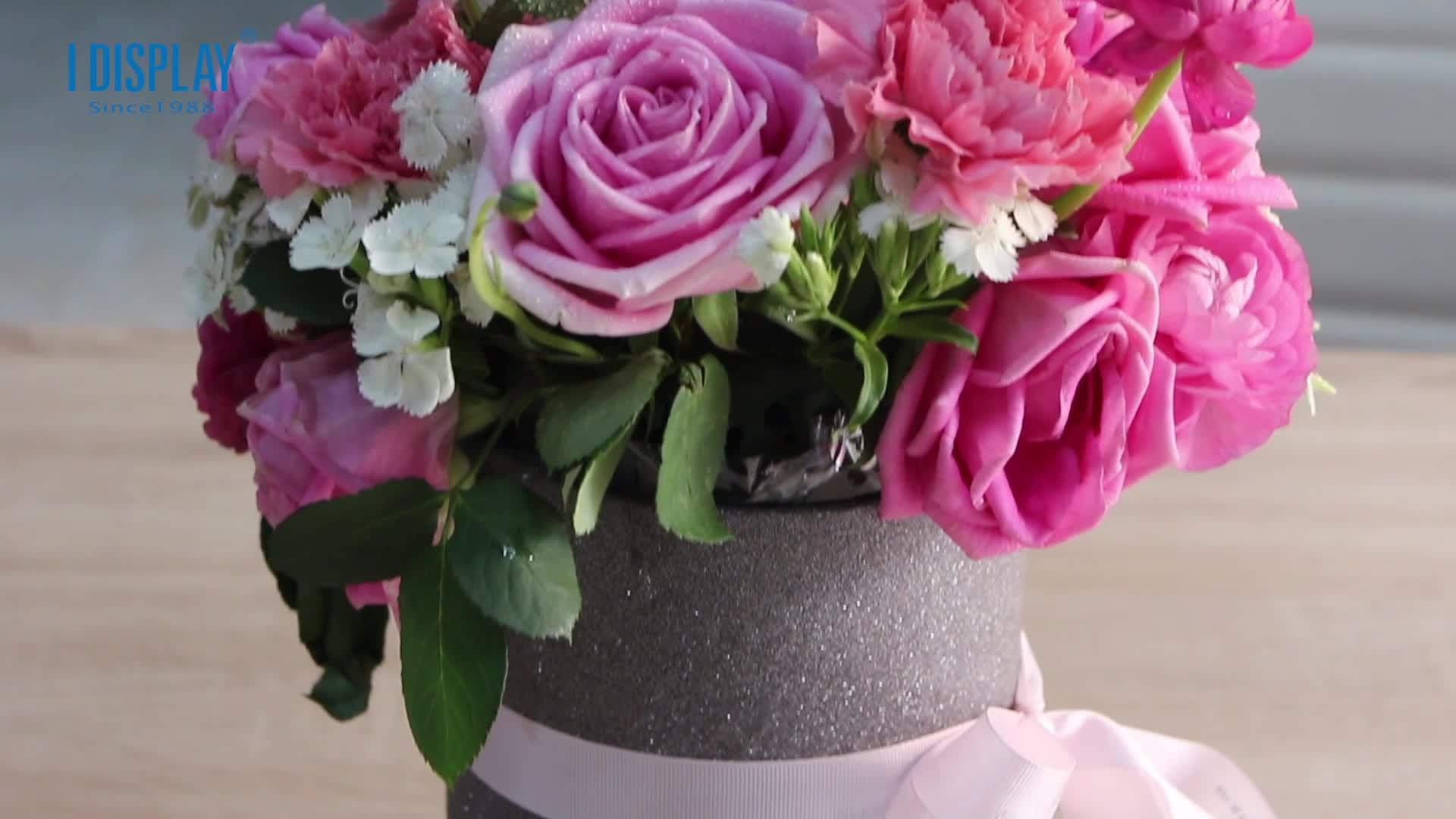 Karton bouquet boxen für kerze badminton seife candy grün verpackung blume box luxus