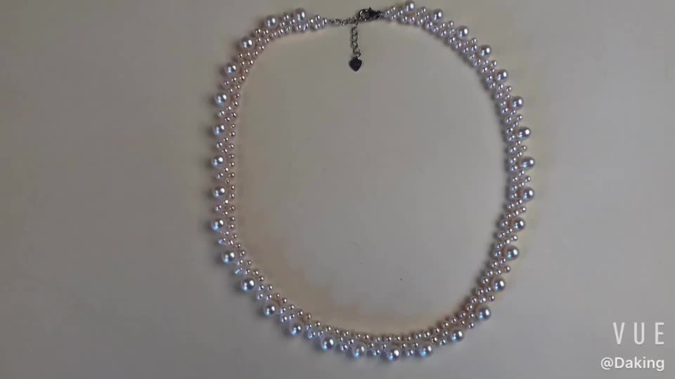 Fine small freshwater pearl bead choker necklace