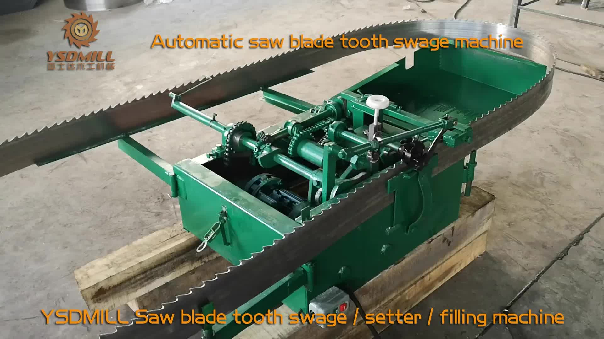 Automatic CNC band saw blade tooth swage machine