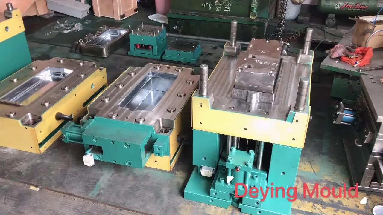 china Universal PVC Cassette switch socket wiring bottom box mould process