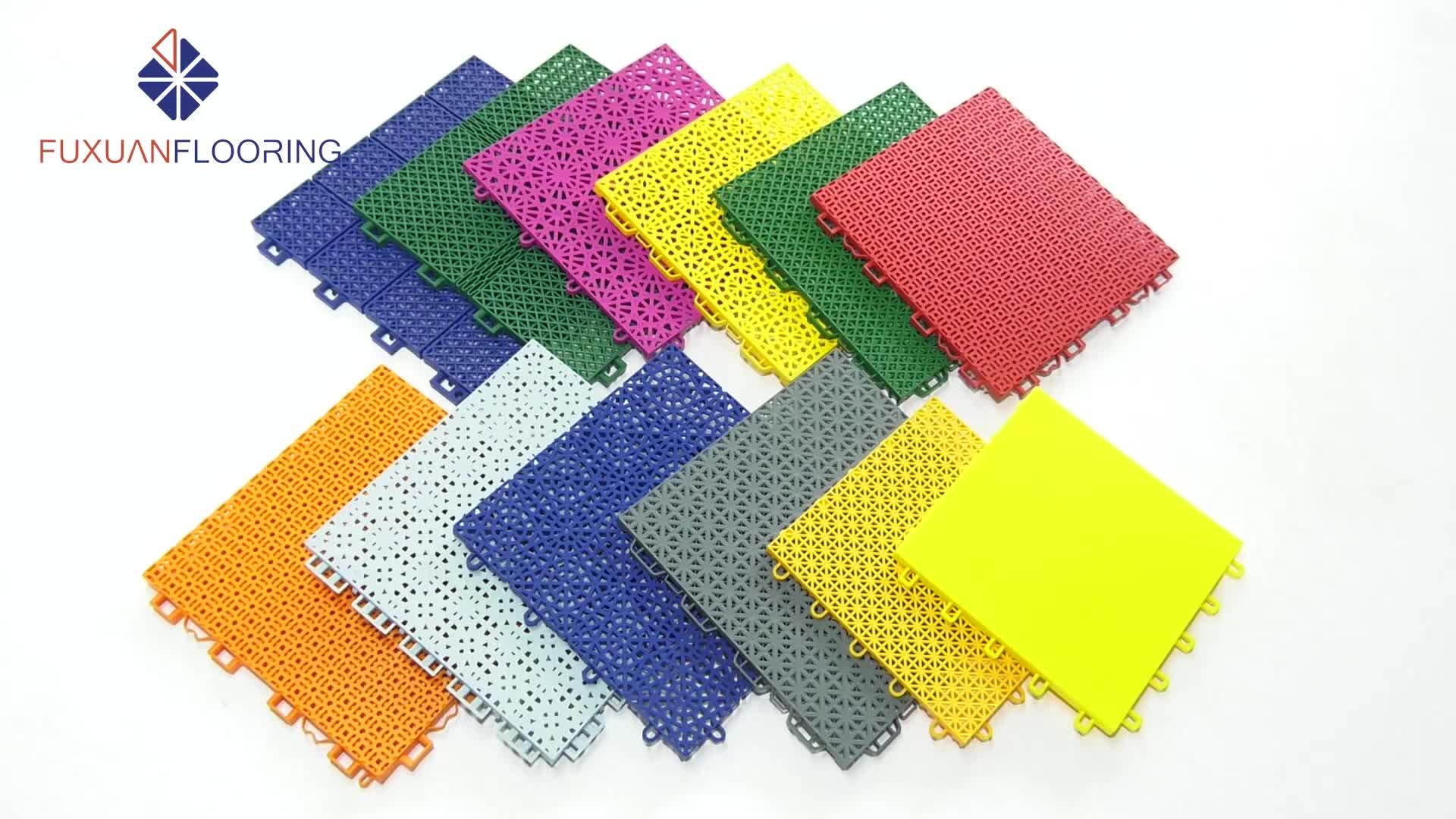 Outdoor sports floor tiles interlocking outdoor flooring tiles